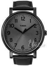 Timex Easy Reader Sort/Lær Ø42 mm
