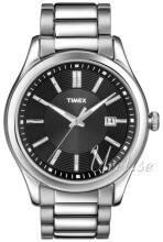Timex Sort/Stål Ø40 mm