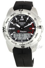 Tissot Touch Collection T Touch Sort/Gummi Ø43.6 mm