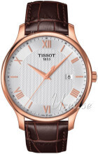 Tissot Tradition Gent Sølvfarget/Rose-gulltonet stål Ø42 mm