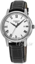 Tissot T-Classic Carson Automatic Hvit/Lær