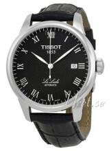 Tissot T-Classic Le Locle Sort/Lær