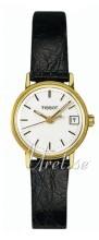 Tissot T-Gold Sølvfarget/Lær Ø22 mm