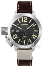 U-Boat Classico Sort/Lær Ø45 mm